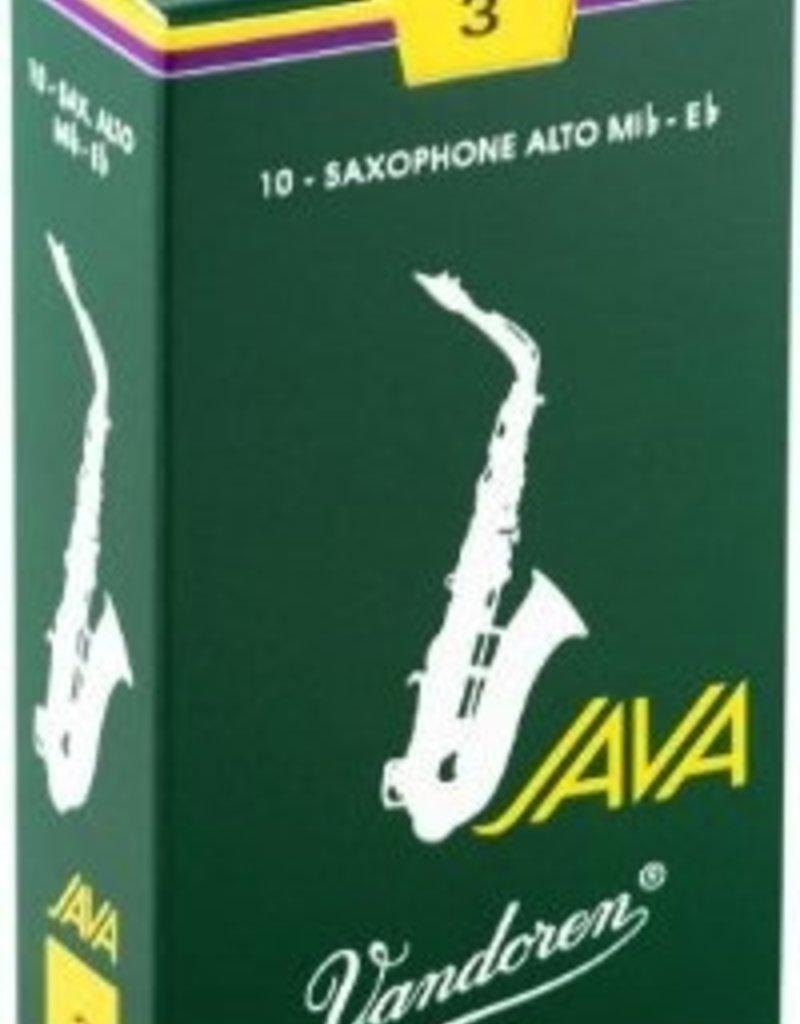 Vandoren Java Green Alto Sax Reeds - Box of 10