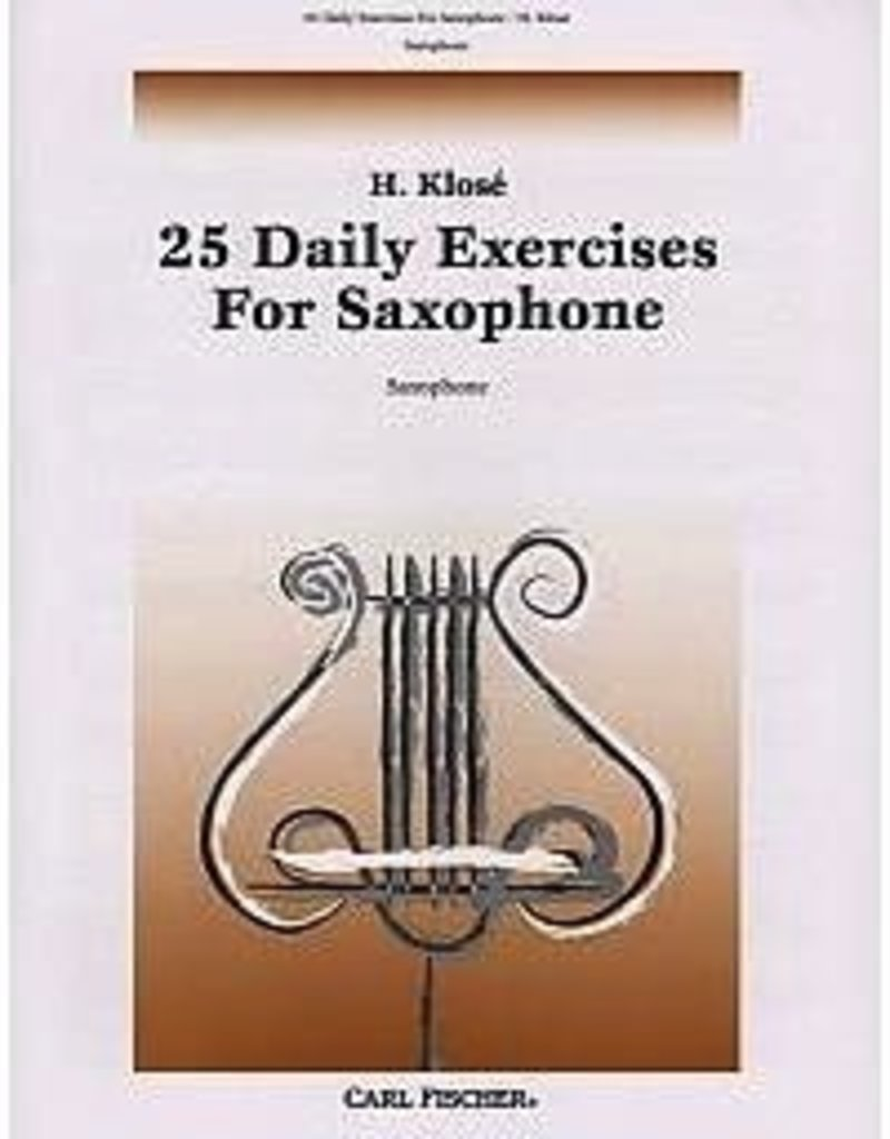 Klose - 25 Daily Exercises For Saxophone