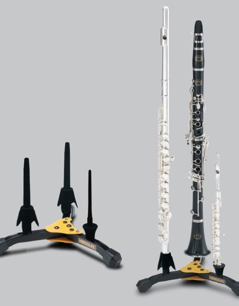 Hercules Double Clarinet/Flute + Piccolo Stand