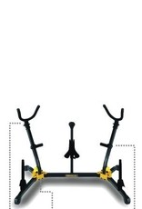 Hercules Alto and Tenor Double Sax Stand with Sop + 2 pegs - DS538B