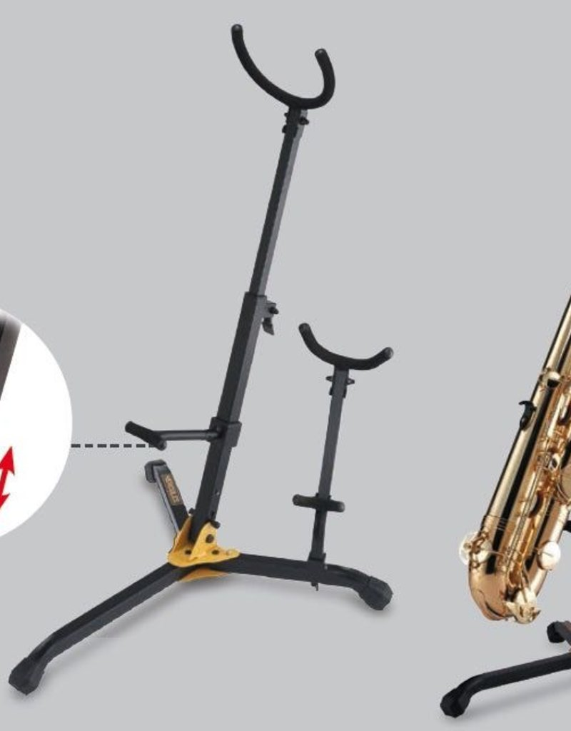 Hercules Baritone Saxophone Stand with Detachable Alto/Tenor Peg - DS536B
