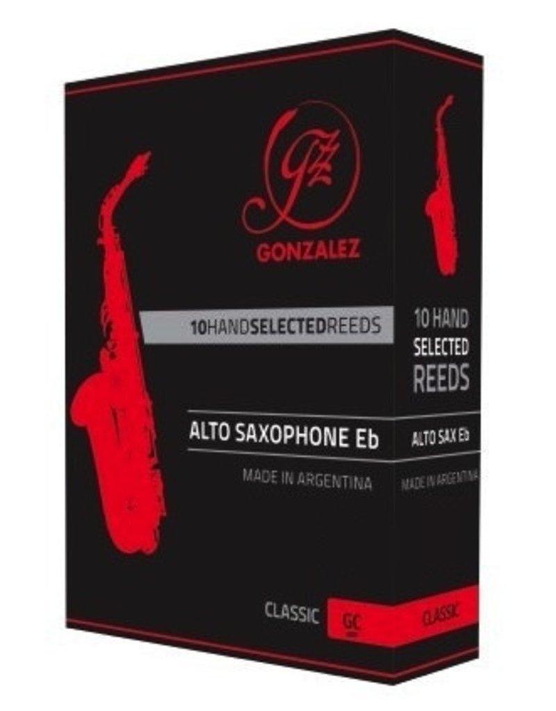 Gonzalez Classic Alto Sax Reeds, box of 10