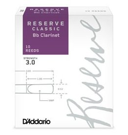 Reserve Classic Clarinet Box of 10 Reeds