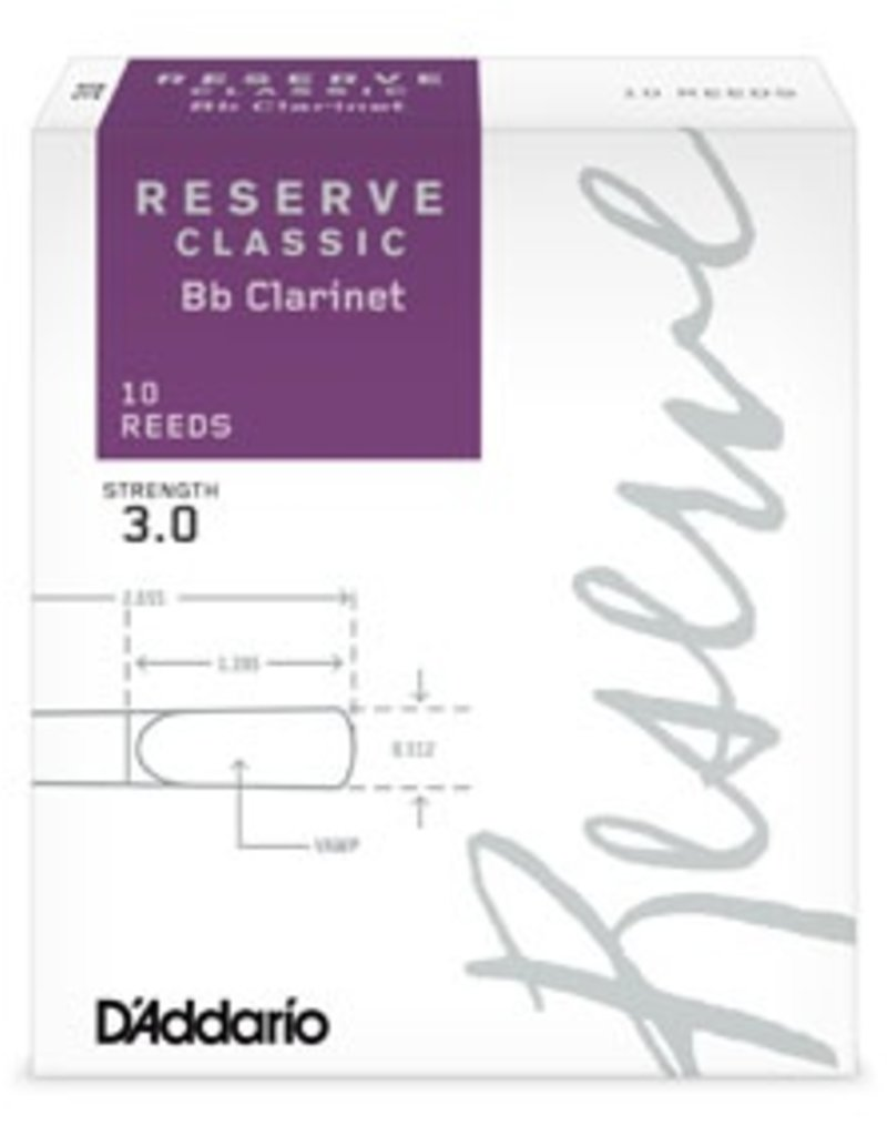 D'Addario Reserve Classic Clarinet Box of 10 Reeds