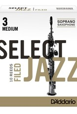 D'Addario Jazz Select Filed Soprano Sax Box of 10 Reeds