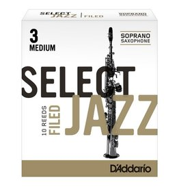 D'Addario Jazz Select Filed Soprano Sax Box of 10 Reeds
