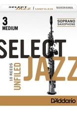 D'Addario Jazz Select Unfiled Soprano Sax Box of 10 Reeds