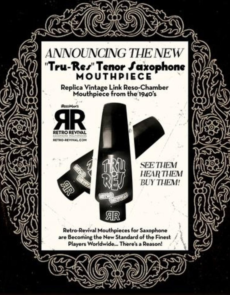 Retro Revival Retro Revival Tru-Res Tenor Saxophone Mouthpiece, 1940s Otto Link Reso Chamber Replica