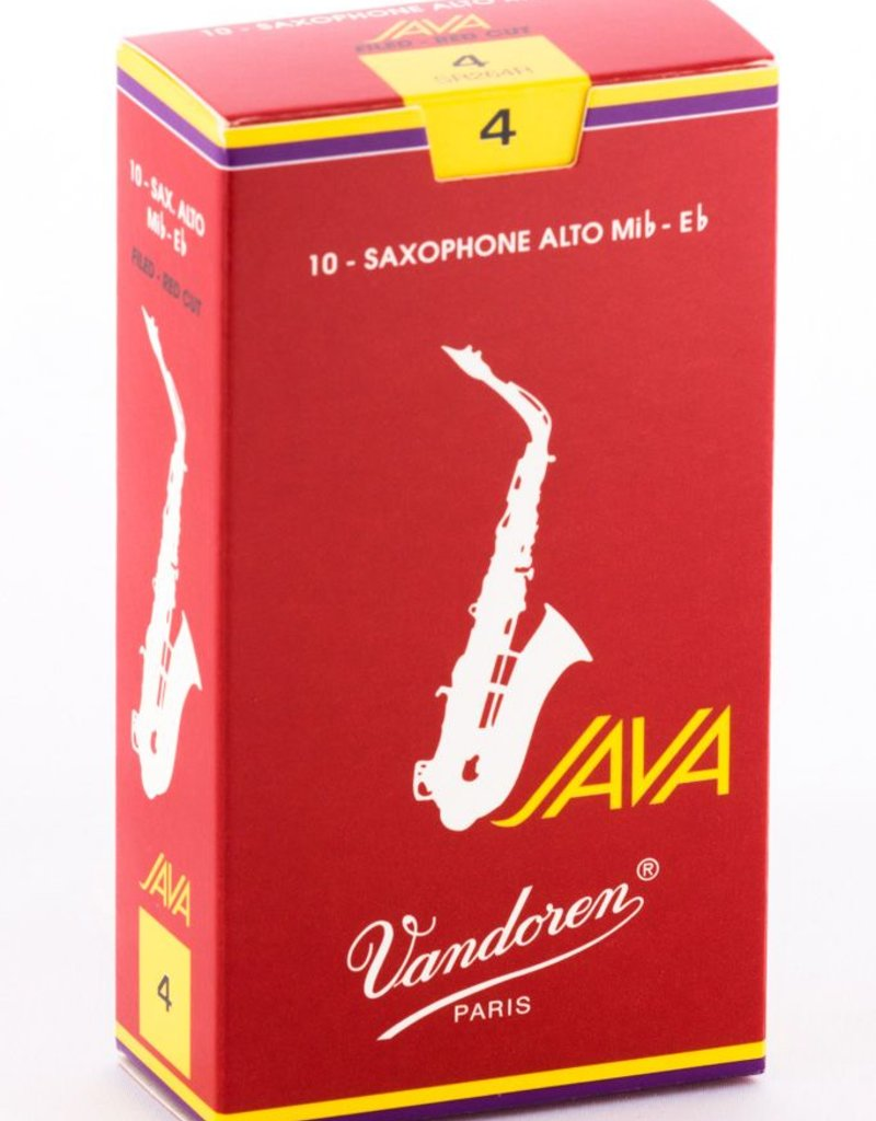Vandoren Java Red Alto Sax Box of 10 Reeds