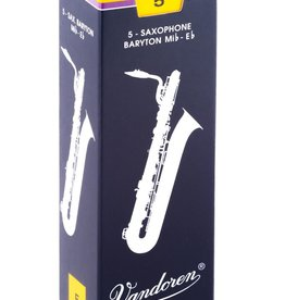 Vandoren Traditional Baritone Sax Box of 5 Reeds