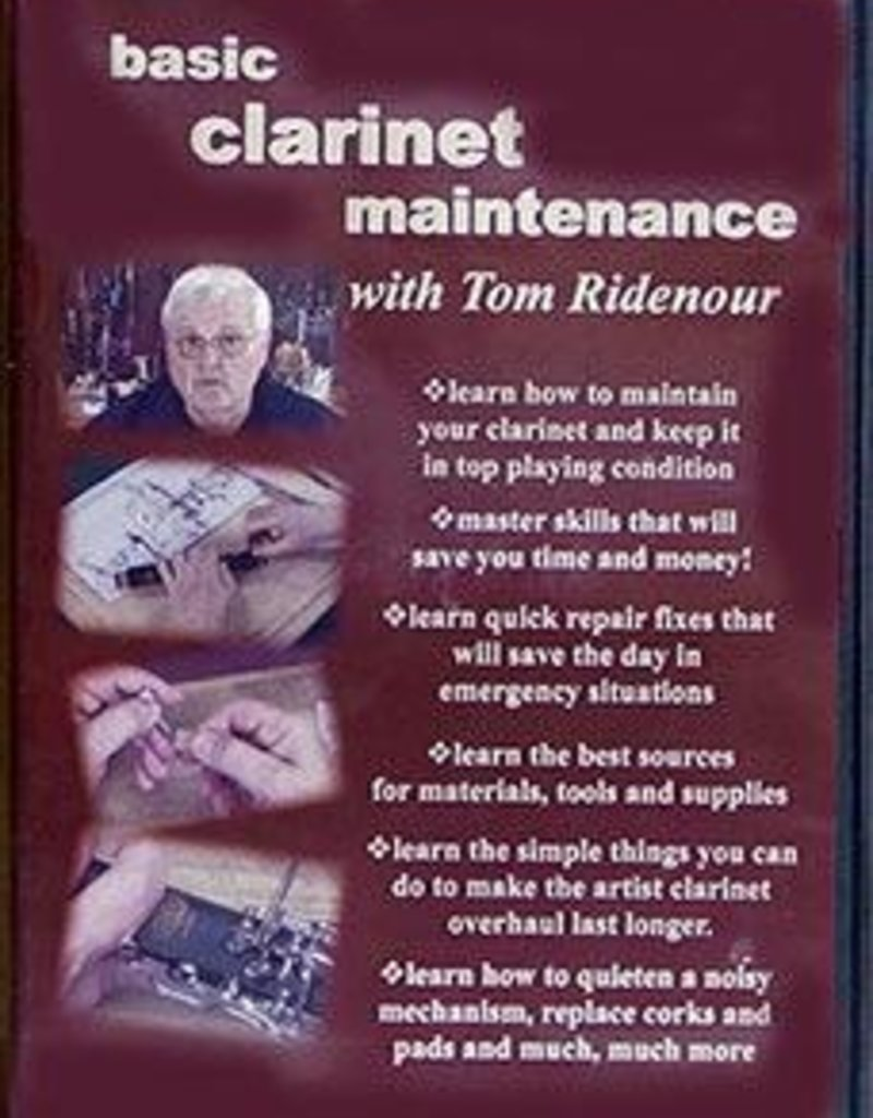 Ridenour ATG Basic Clarinet Maintenance DVD