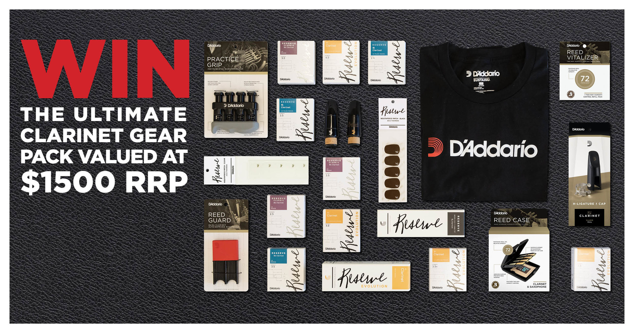D'addario clarinet prize pack banner