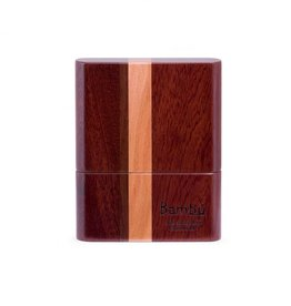 Bambu Hand-Made Wooden Case, Striped Wood Finish