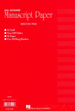 Hal Leonard Delux Manuscript Paper Pad