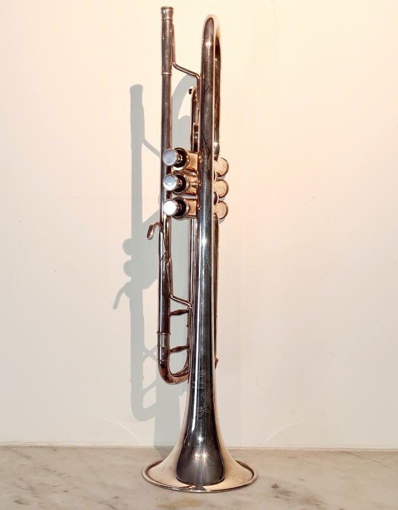 Temby Australia Ex-Demo Professional Bb Trumpet - Silver