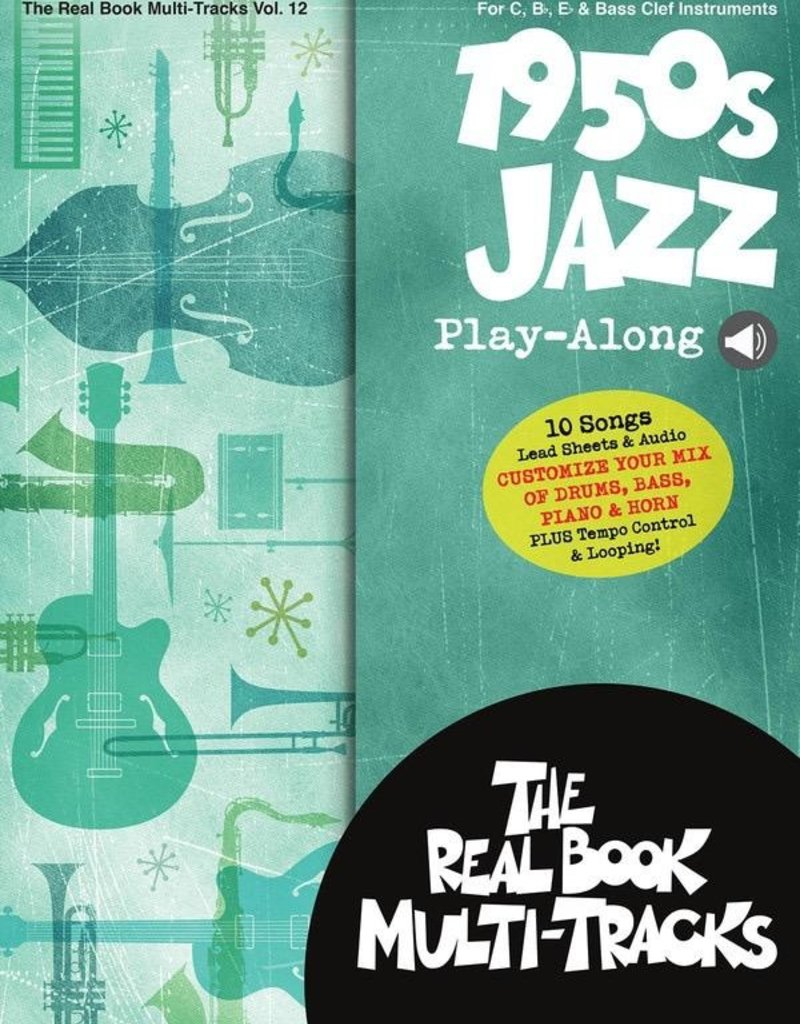 Real Book 1950s Jazz Playalong V12 bk/OLM Real Book Multi-Trakcs