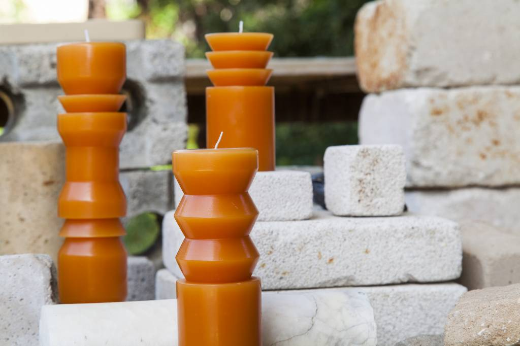 Areaware Medium Totem Candle in Terracotta by Grain