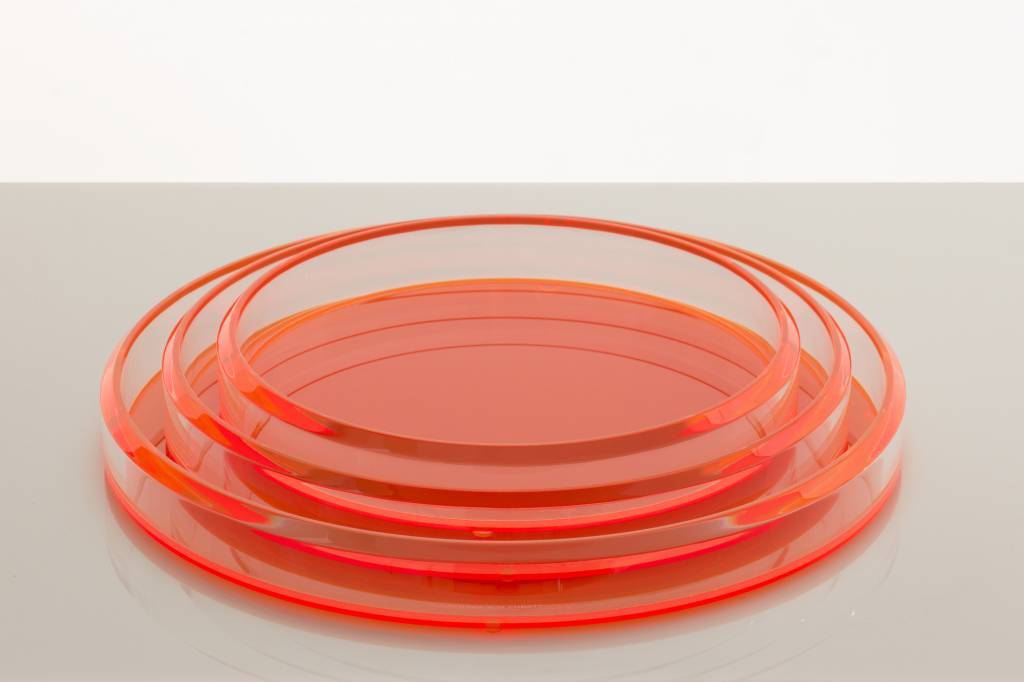 Alexandra Von Furstenberg Infinity Nesting Trays in Orange