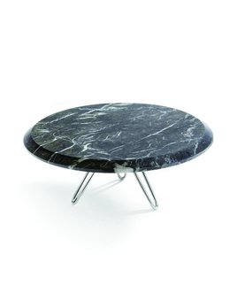 Anna by Rablabs Torta Cake Stand | Carnico Marble, Silver