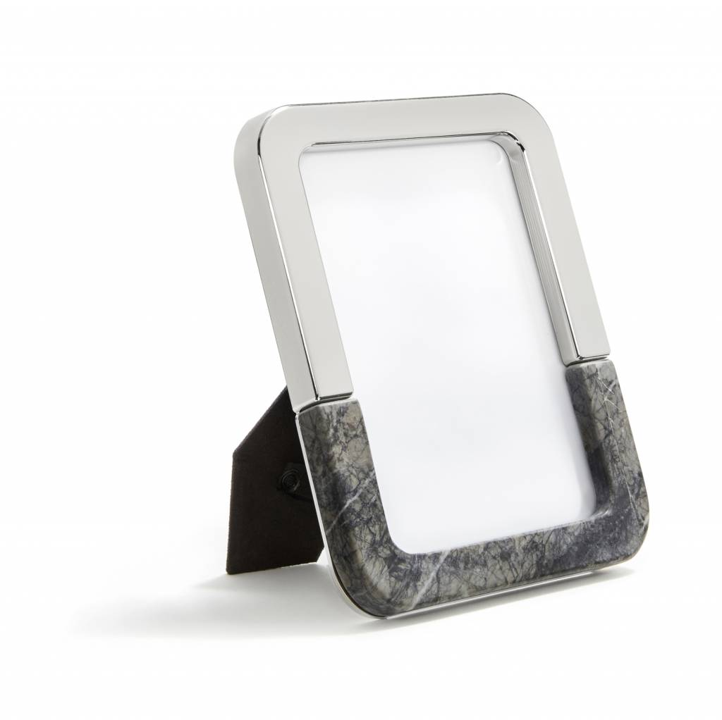 Anna by Rablabs Dual Frame | Carnico Marble and Silver