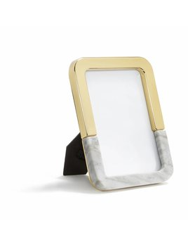 Anna by Rablabs Dual Frame | Carrara Marble and Gold