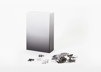 Areaware Gradient Puzzle Small, Black/White