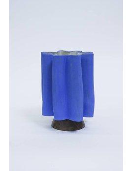 B. Zippy Narrow Scallop Klein Blue Vase