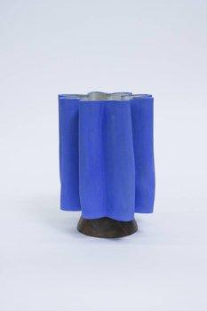BZippy & Co. Narrow Scallop Klein Blue Vase