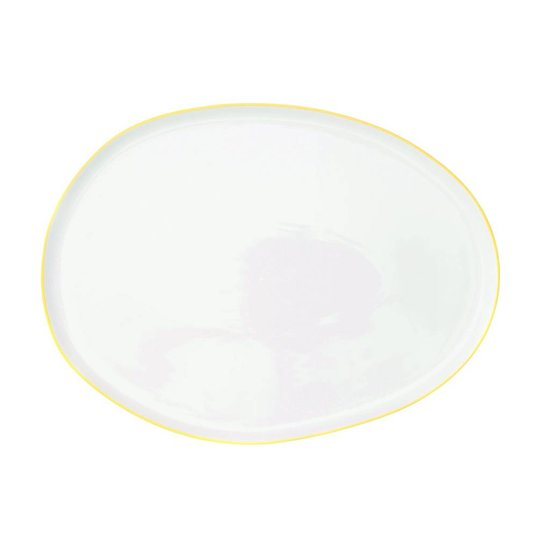 Canvas Home Abbesses Small Platter Yellow Rim