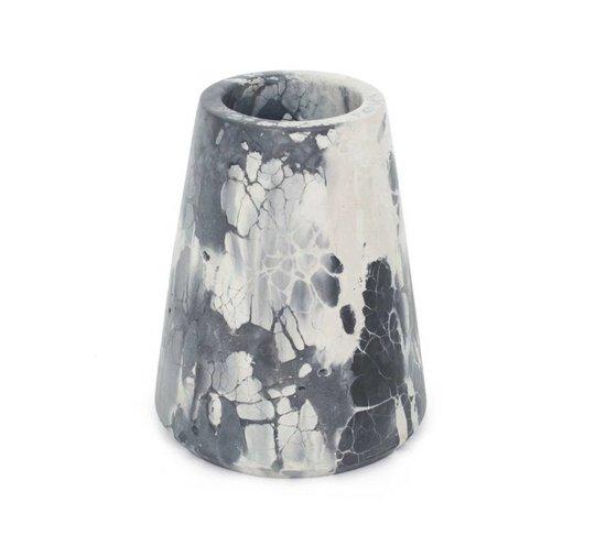 Concrete Cat Vesta Vase | Oracle - Black + White