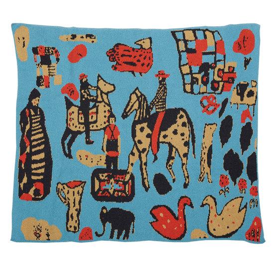 Hillery Sproatt Child Cowboys Turquoise Blanket