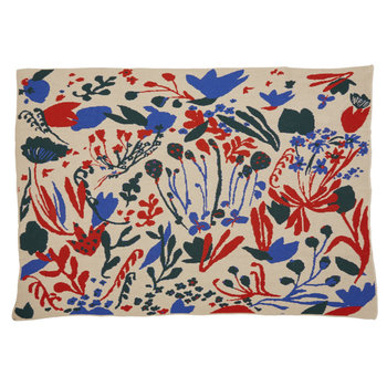 Hillery Sproatt Poppies & Lotus Flax Blanket