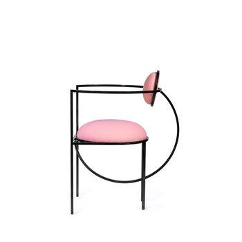 Bohinc Studio Lunar Chair Steel and Wool Pink and Bronze