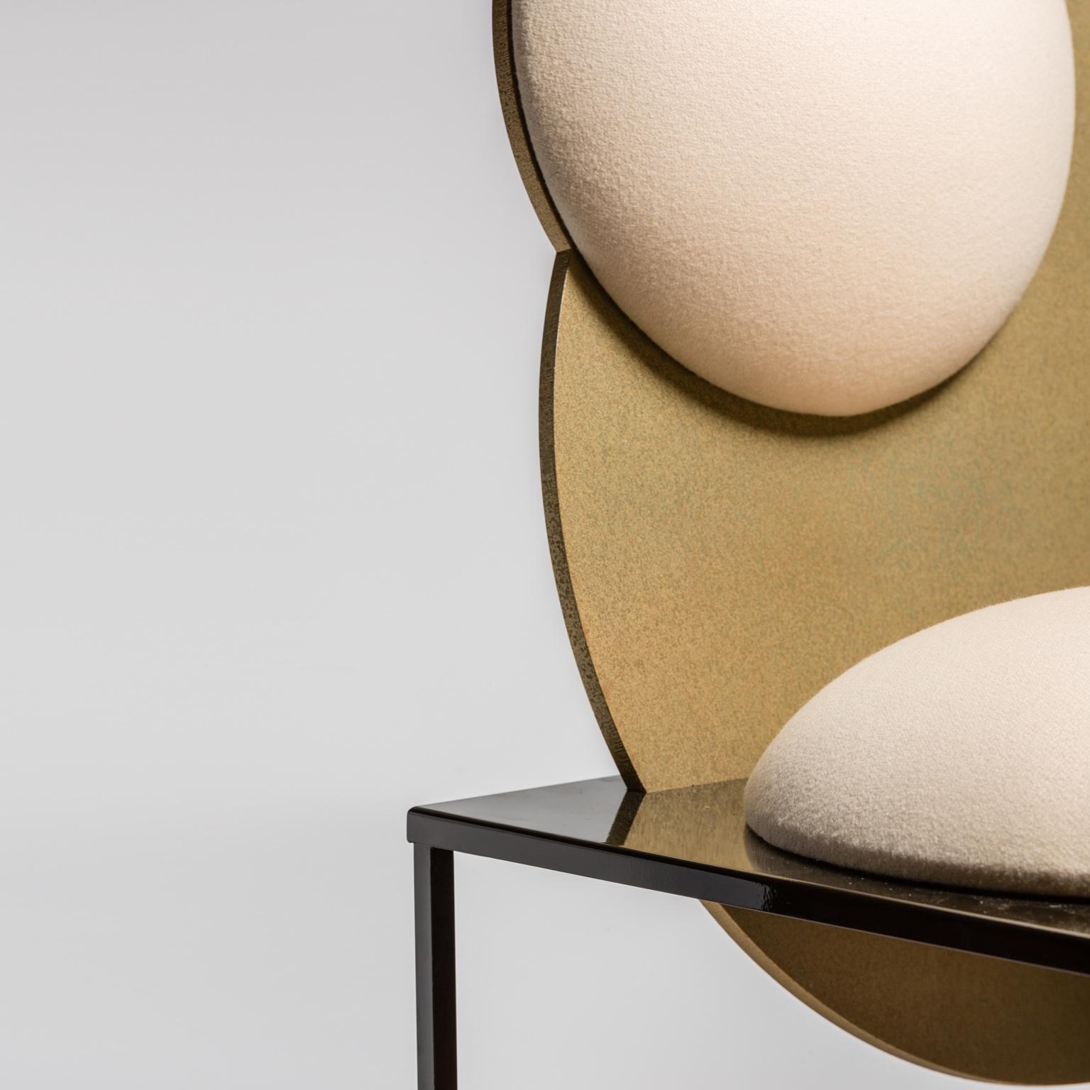 Bohinc Studio Celeste Chair Steel and Wool