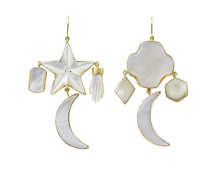 Grainne Morton Moon and Star Earrings