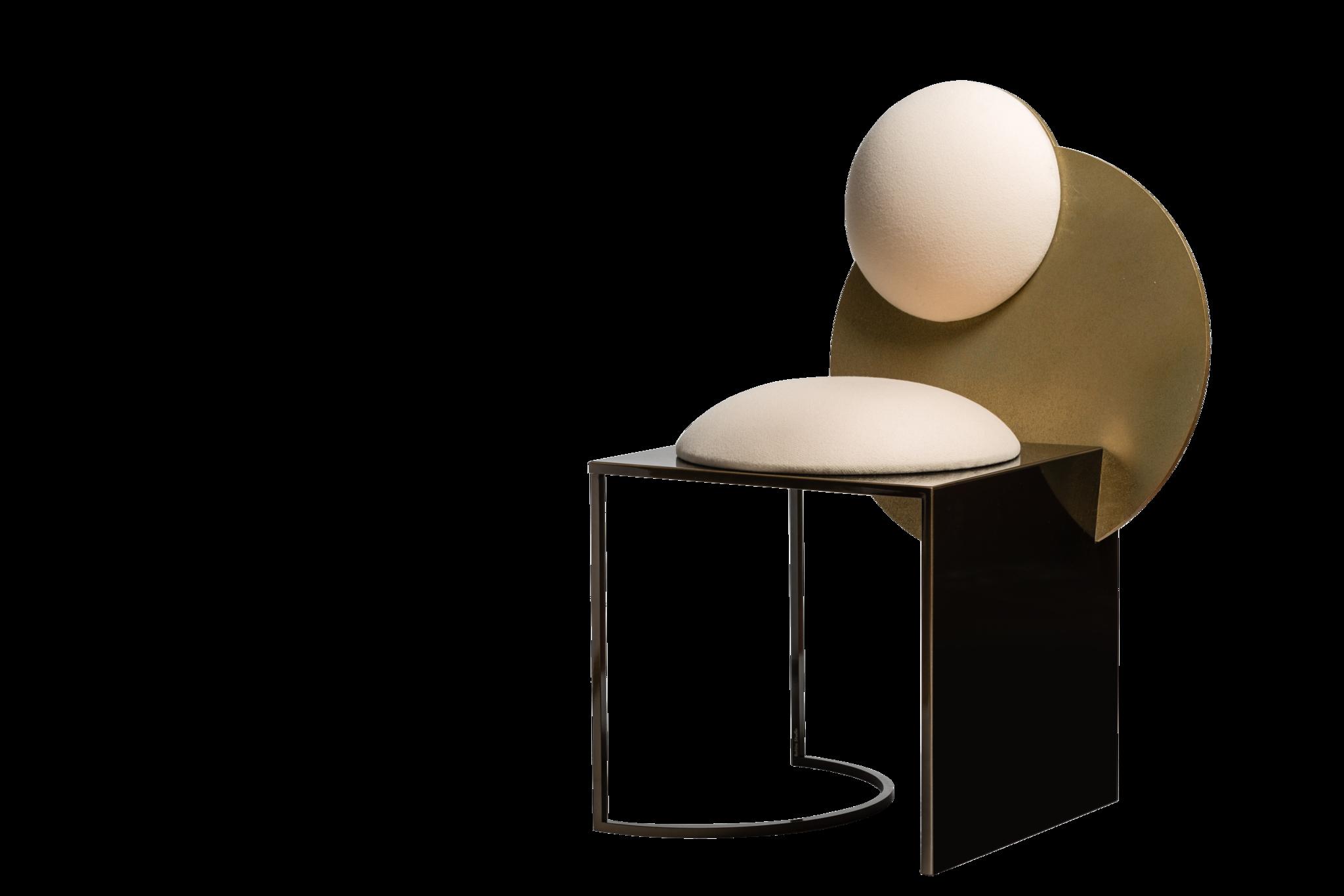 Bohinc Studio Celeste Chair in Steel and Wool