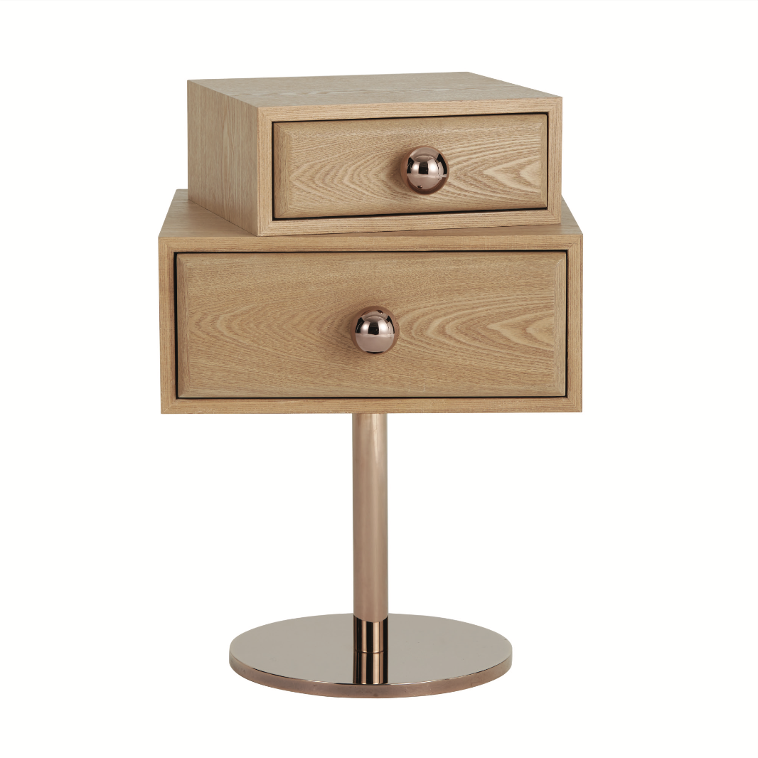 MaisonDada Stand By Me Side Table in Wood Finish