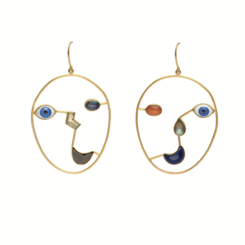 Grainne Morton Face Earrings