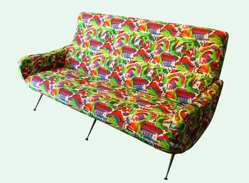 Marco Zanuso Italian Settee in the Manner of Marco Zanuso