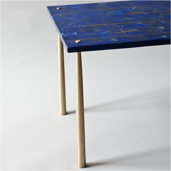 Demuro Das Azure Center Table in Lapis Lazuli
