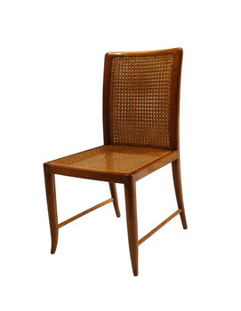 Paolo Buffa Paolo Buffa Wood Frame Double Weaving Seat/Seatback, Circa 1950