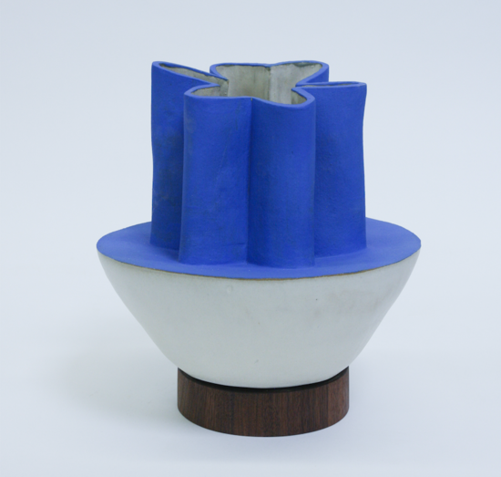 BZippy & Co. Half Scallop Klein Blue Vase