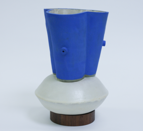BZippy & Co. Large Funnel Klein Blue Vase