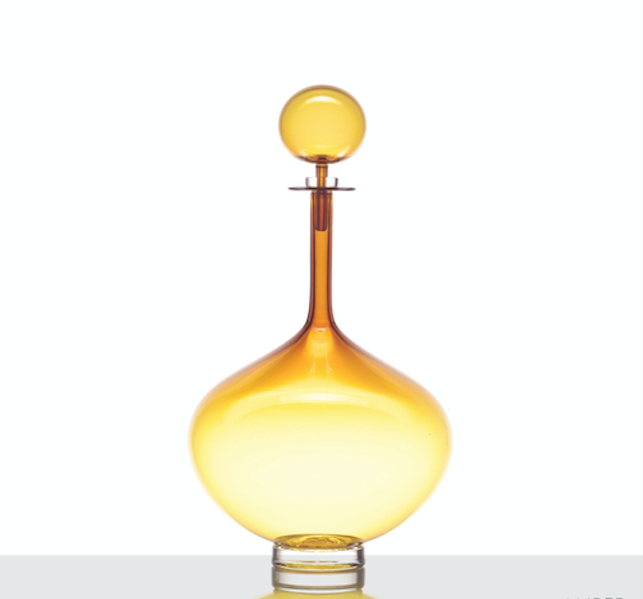 Joe Cariati Petite Decanter Genie Bottle Amber