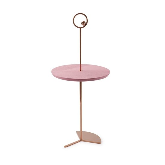 Maison Dada Off The Moon Sidetable Copper W/Dusty Matte/Pink Tray