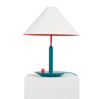 Maison Dada Little Eliah Table Lamp Orange Flamingo/Green Peacock