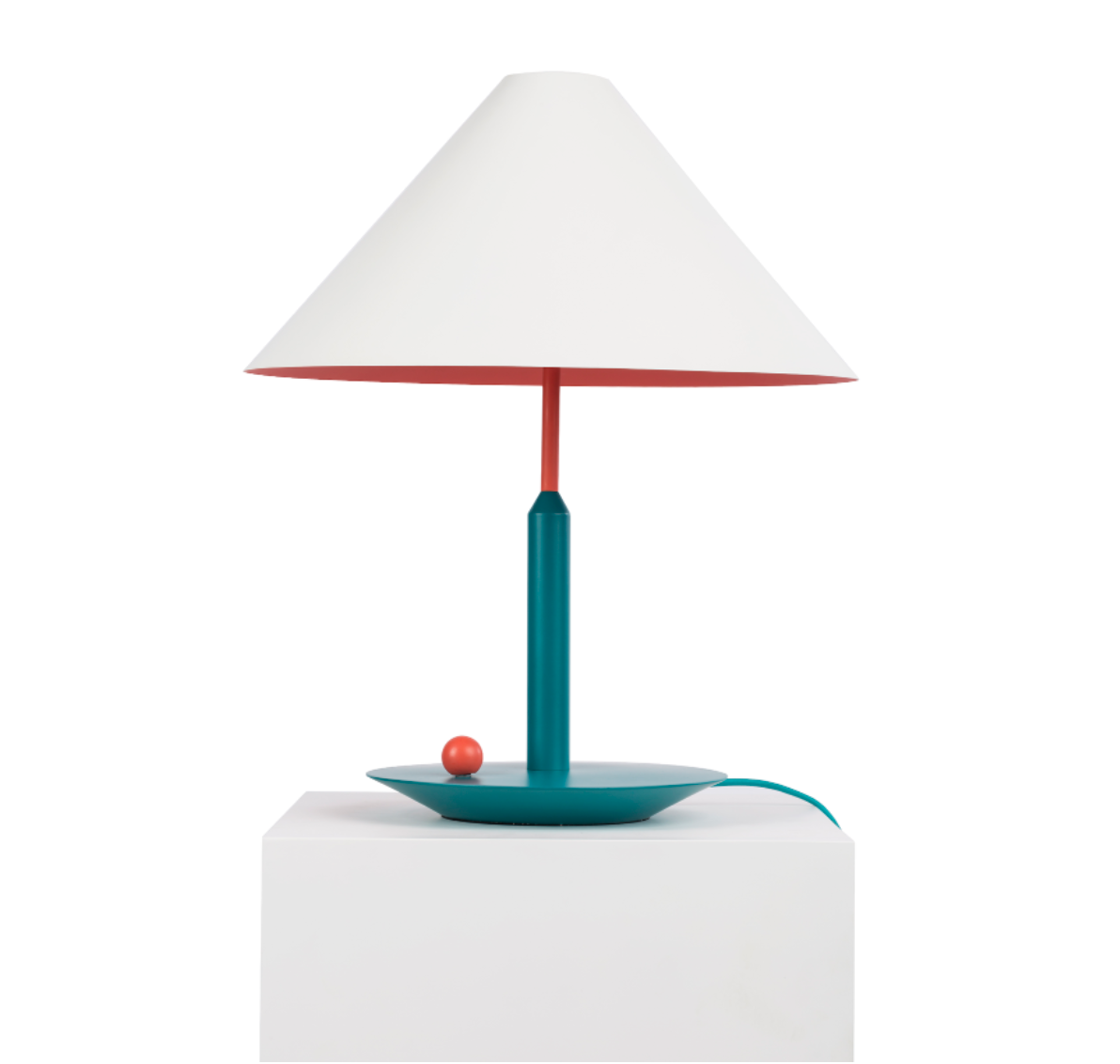 Maison Dada Little Eliah Table Lamp Orange Flamingo/Green Peacock