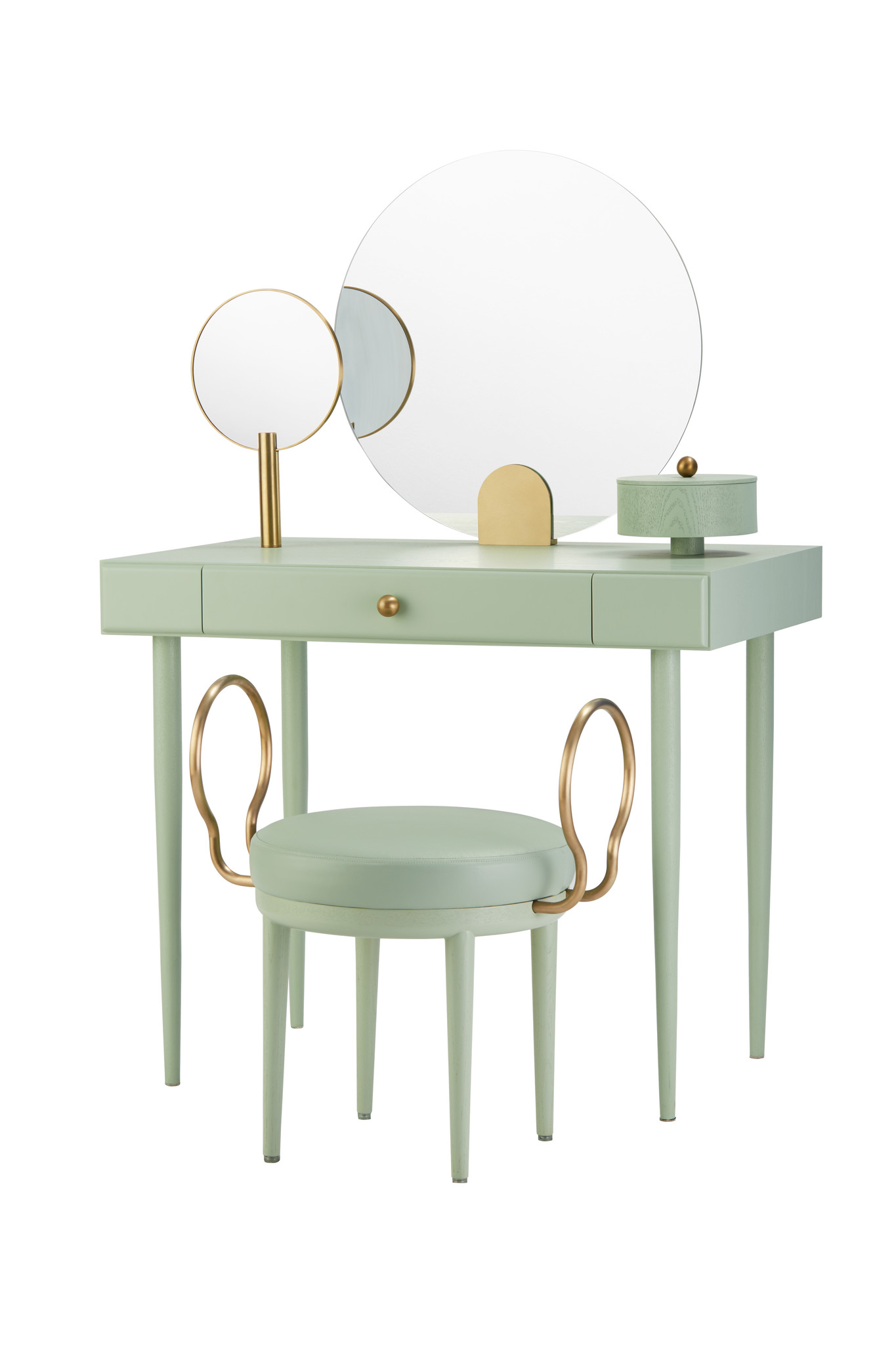 Maison Dada Rose Selavy Vanity Desk and Stool Green Celadon