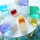 Jonathan Adler Acrylic Pill Medium Orange
