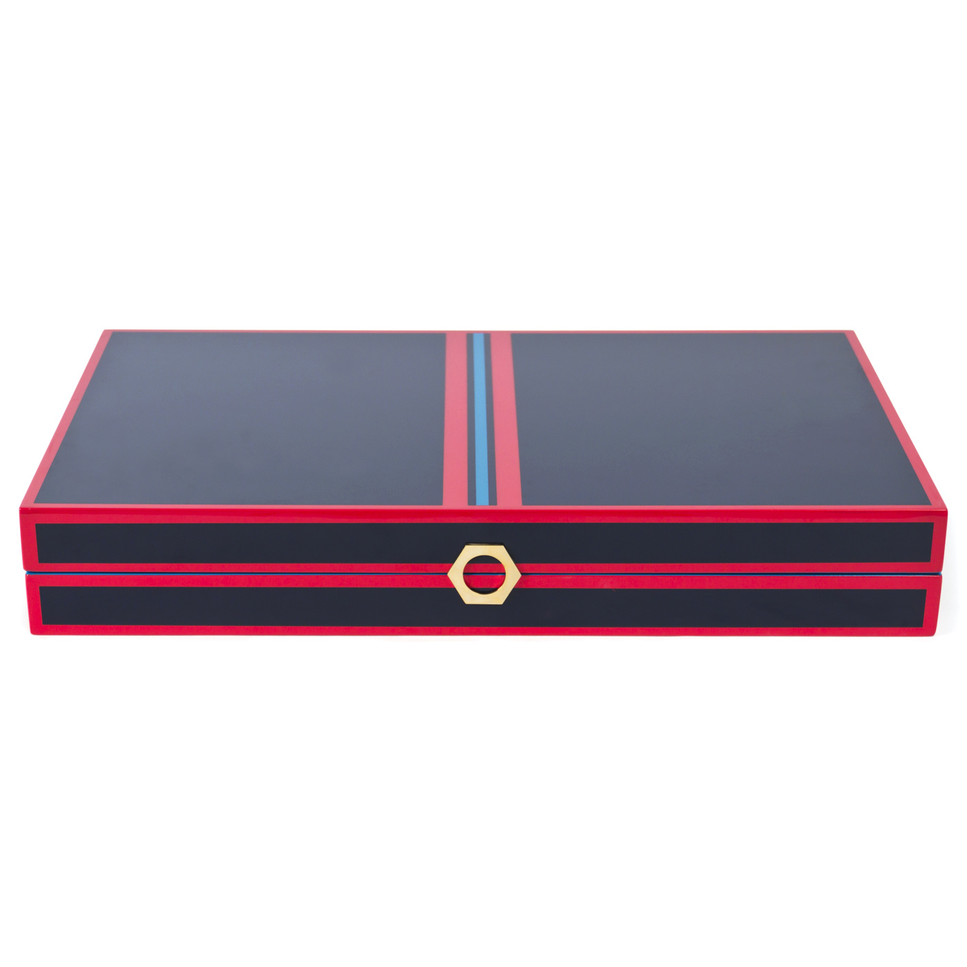 Jonathan Adler Backgammon Set Navy Red